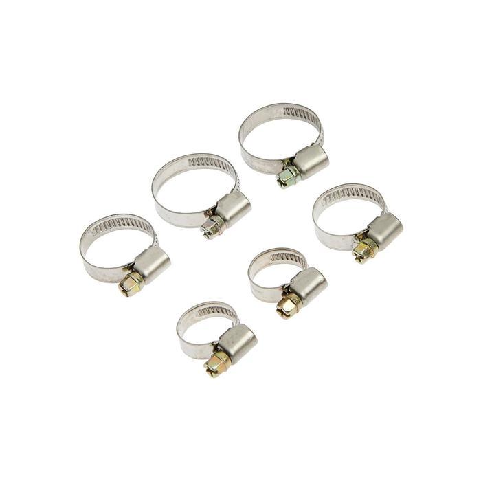 Набор хомутов оцинкованных TUNDRA krep, d = 12-20, 20-32, 25-40 мм, 6 шт.
