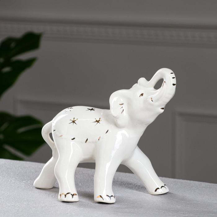 "Сувенир-статуэтка ""Слон"" белый, 19 см"