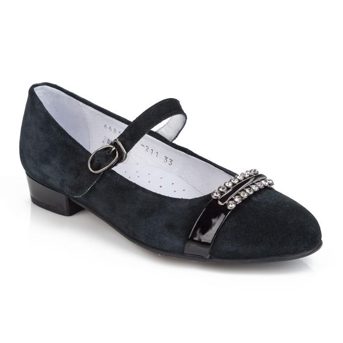 Туфли для девочки арт. DJD_352-04_black (черный) (р. 33)