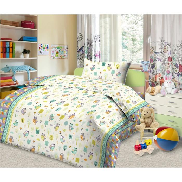 Детское постельное бельё 1,5 сп. «Лесные совята»