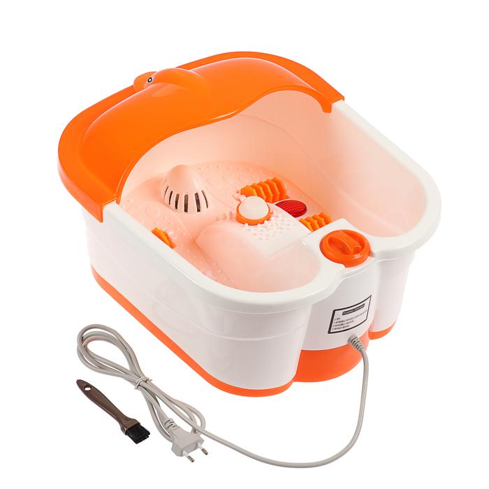 Массажная ванна для ног LuazON LMZ-061, 220 В, оранжевая