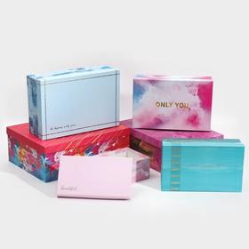 Набор коробок прямоугольных 6 в 1 «Мазки», 20 х 12,5 х 7,5 - 32,5 х 20 х 12,5 см