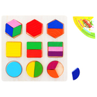 Puzzle shapes 3*3 and integer fractions to 1/3