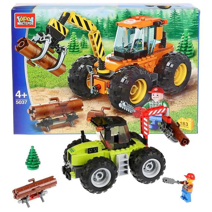 Конструктор «Трактор-лесоруб», 183 детали