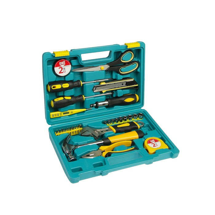 Набор инструментов Smartbuy One Tools, 30 предметов, инструментальная сталь №45, кейс - фото 1849578