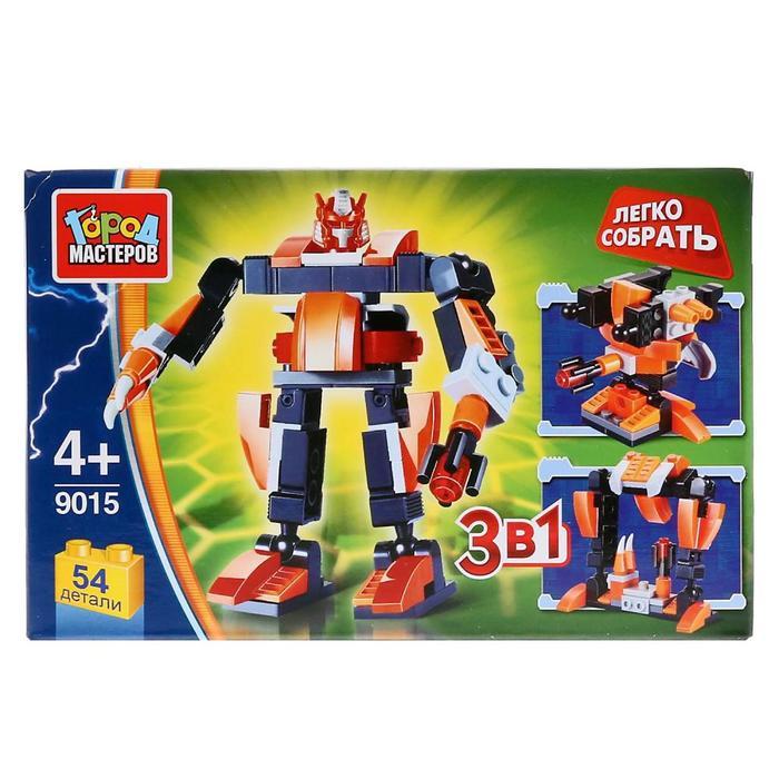 Конструктор «Робот 3 в 1», 54 детали