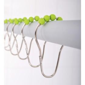 Кольца для штанги комплект 12 шт, с зелёными шариками