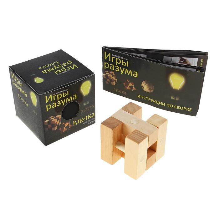 Головоломка деревянная Игры разума «Клетка»