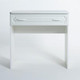 Туалетный стол Магнолия 820х816х414, Белое дерево/Белый