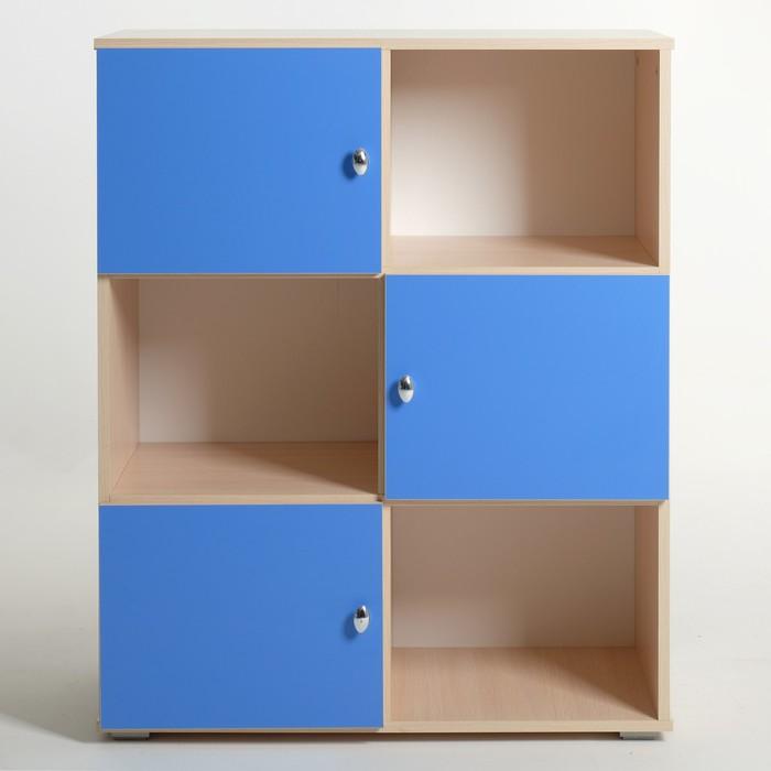 Шкаф «Алёнка», 810 × 1020 × 420, Дуб молочный/Синий