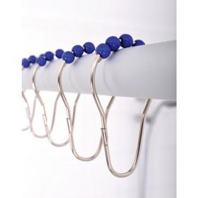 Кольца для штанги комплект 12 шт, с синими шариками