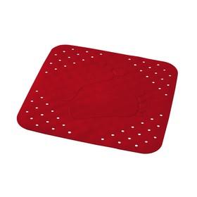 Коврик противоскользящий Plattfuß, красный, 54x54 см