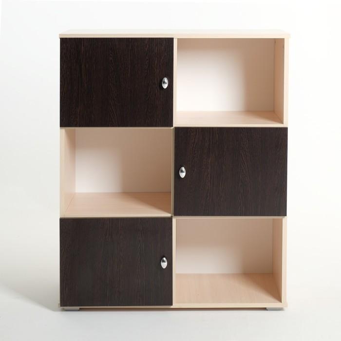 Шкаф «Алёнка», 810 × 1020 × 420, Дуб молочный/Венге