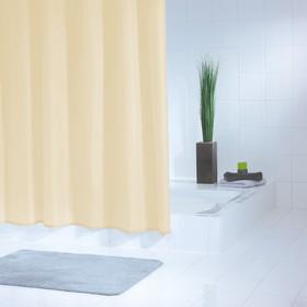 Штора для ванных комнат Standard, цвет бежевый/коричневый, 180x200 см