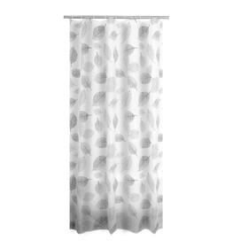 Штора для ванных комнат Fallin, цвет серый, 180х200 см