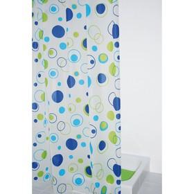 Штора для ванных комнат Kreise, цвет синий/голубой, 180х200 см