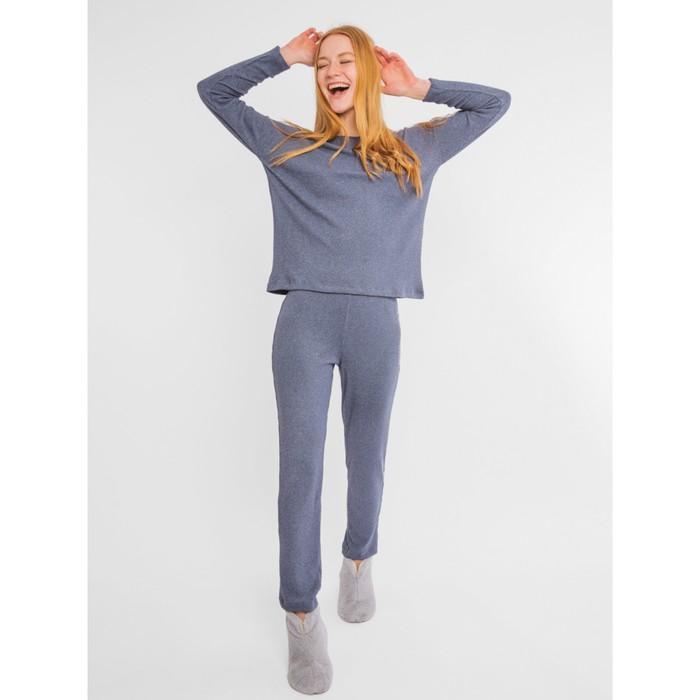 Комплект женский (джемпер, брюки), цвет графитовый, размер 44 (S)