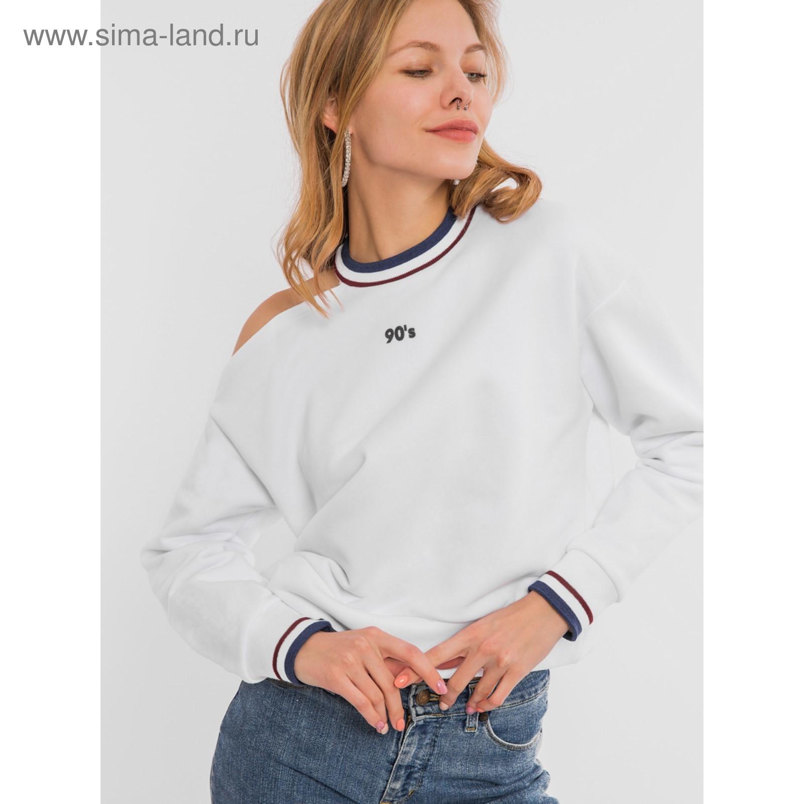 fa8fe79237e1c Свитшот женский, цвет белый, размер 50 (XL) (122490(19-4981-7П ...