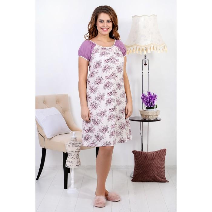 Сорочка женская «Нежность-1», цвет розовый, размер 52