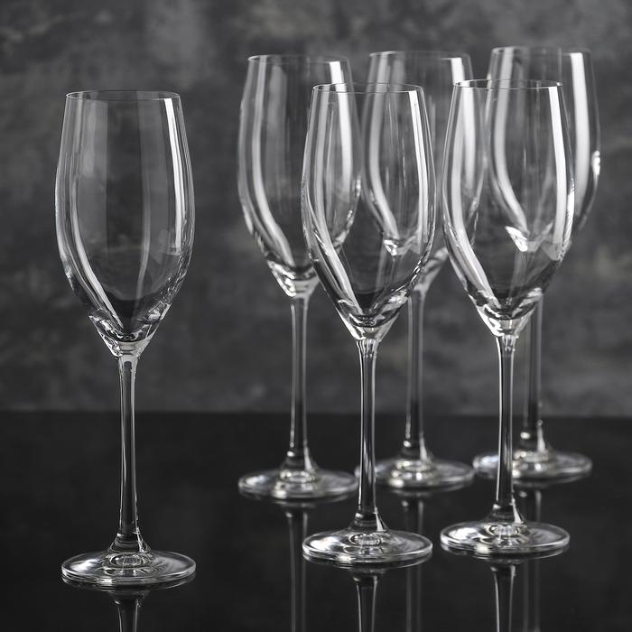 """Набор бокалов для шампанского 230 мл """"Меган"""", 6 шт"""