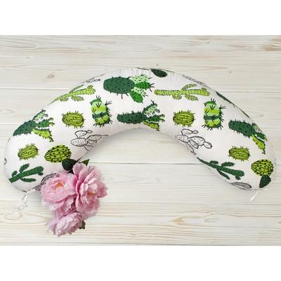 Наволочка к подушке для беременных, размер 25 × 170 см, принт кактусы