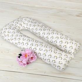 Подушка для беременных U-образная, размер 35 × 340 см, принт пингвины