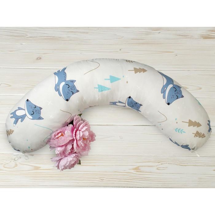 Подушка для беременных, размер 25 × 170 см, принт в лесу