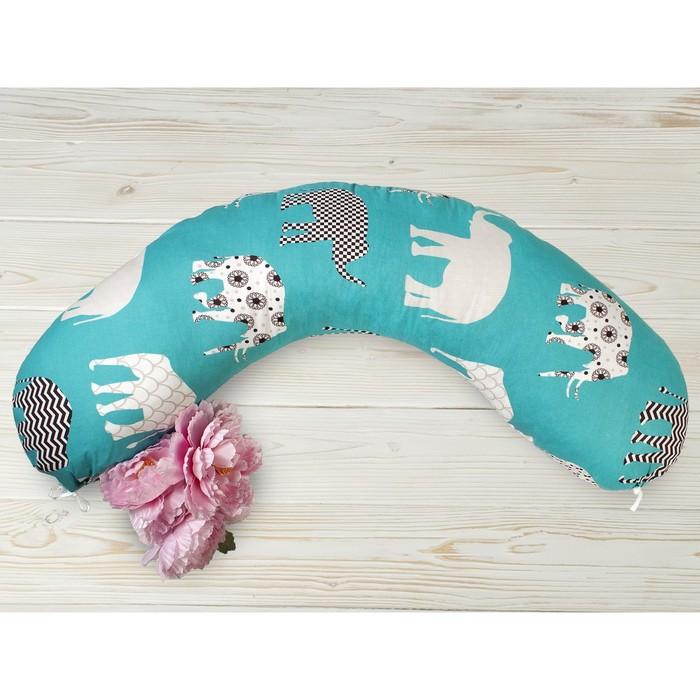 Подушка для беременных, размер 25 × 170 см, принт слоники
