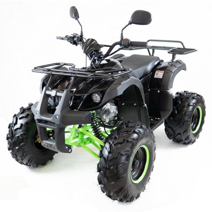 Квадроцикл бензиновый MOTAX ATV Grizlik Super LUX 125 cc NEW, черно-зеленый, электростартер, родительский контроль