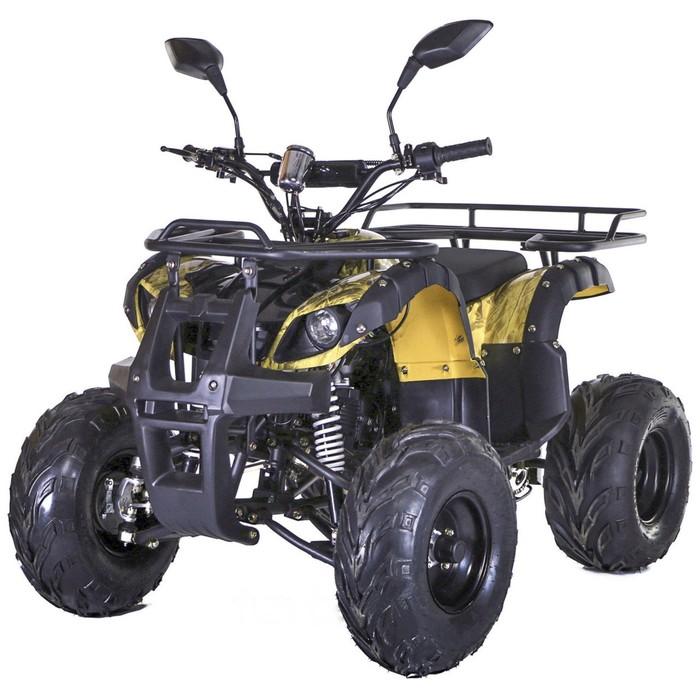 Квадроцикл бензиновый MOTAX ATV Grizlik LUX 125 cc, желтый камуфляж, электростартер, родительский контроль