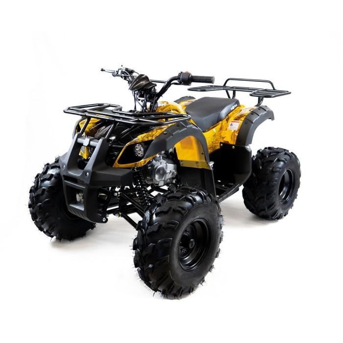 Квадроцикл бензиновый MOTAX ATV Grizlik Super LUX 125 cc NEW, желтый камуфляж, электростартер, родительский контроль