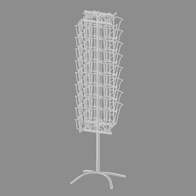 Стойка вращающаяся для печатной продукции, 62 кармана (8 А4, 54 А5+А6), цвет белый