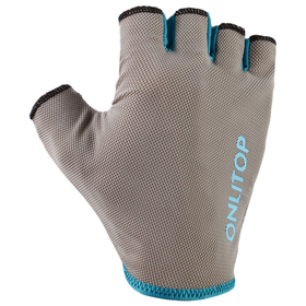 Перчатки спортивные, размер L, цвет серый/синий