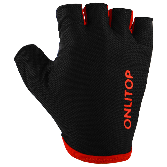 Перчатки спортивные, размер S, цвет чёрный