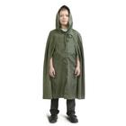 Детский распашной плащ-дождевик, водоотталкивающий, хаки, рост 104-128 см, длина 80 см