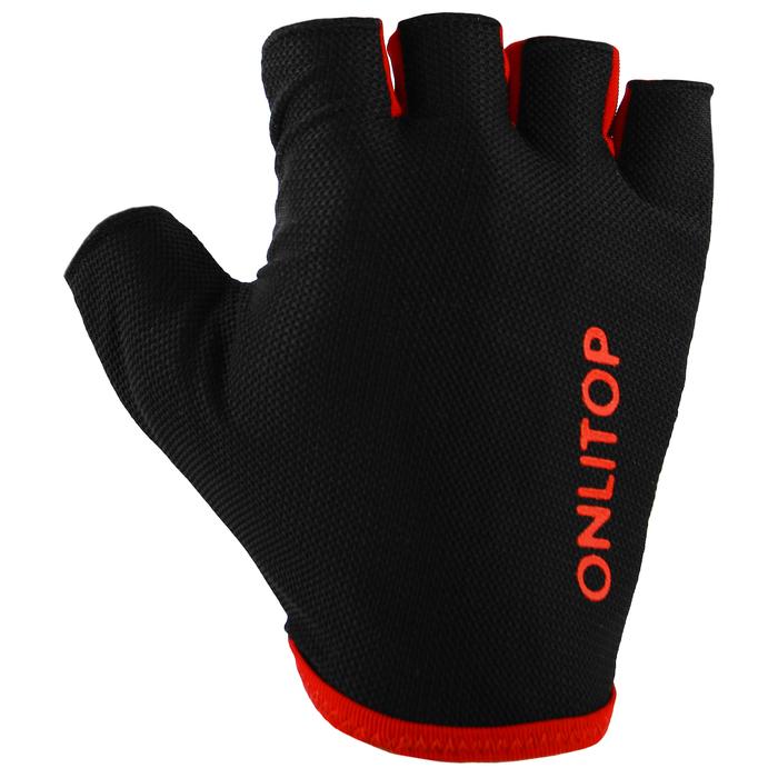 Перчатки спортивные, размер М, цвет чёрный