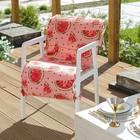 Подушка на уличное кресло «Этель» Арбузы, 50×100+2 см, репс с пропиткой ВМГО, 100% хлопок