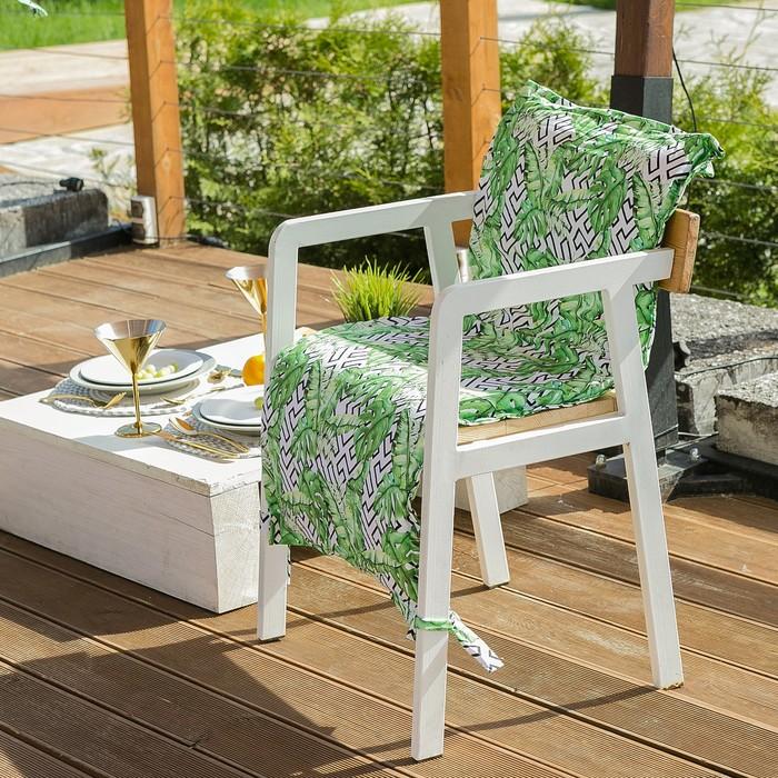 Подушка на уличное кресло Этель «Геометрия», 50 × 100 см + 2 см, репс с пропиткой ВМГО, 100%-ный хлопок