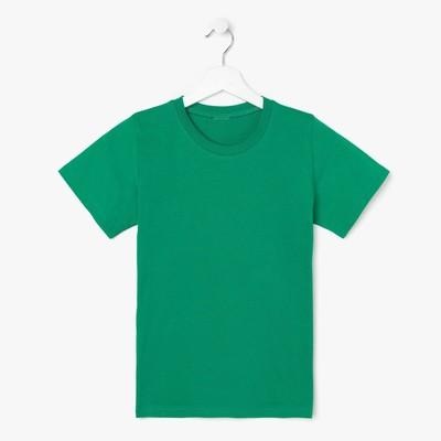 Футболка детская, цвет зеленый, рост 140 (10 лет)