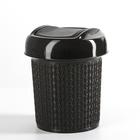 Контейнер для мусора 1 л Ajur, цвет венге