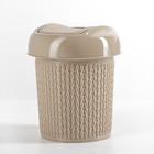 Контейнер для мусора 1 л Ajur, цвет кофейный