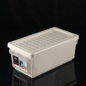 Ящик для хранения с боковой дверцей 12 л, цвет слоновая кость