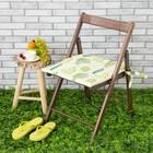 Подушка на стул уличная «Этель» Кактусы, 45×45 см, репс с пропиткой ВМГО, 100% хлопок