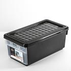 Ящик для хранения с боковой дверцей 12 л, цвет венге