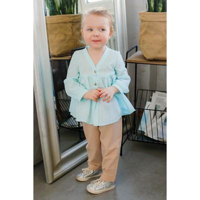 Блузка для девочки MINAKU, рост 92 см, цвет голубой