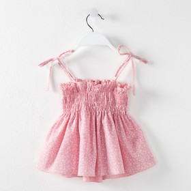 Топ на бретелях для девочки MINAKU «Цветочки», рост 92–98 см, цвет розовый