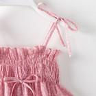 """Топ на бретелях для девочки MINAKU """"Цветочки"""", рост 104-110, цвет розовый - фото 105706811"""