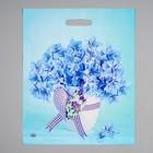 """Пакет """"Небесные цветочки"""", полиэтиленовый с вырубной ручкой, 38 х 45 см, 60 мкм - фото 308292121"""