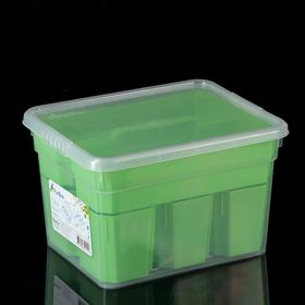Контейнер для хранения Basic, 5 л, 6 вставок, лоток, цвет МИКС