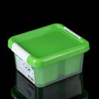 Контейнер для хранения 2 л Standart, 4 вставки, цвет салатовый